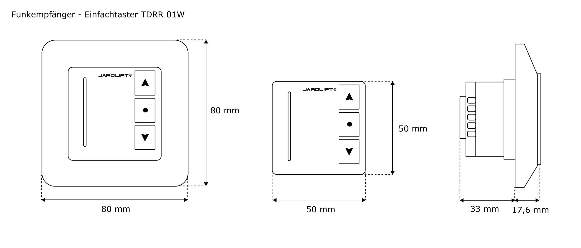 jarolift funkempf nger mit tastfunktion einfachtaster. Black Bedroom Furniture Sets. Home Design Ideas