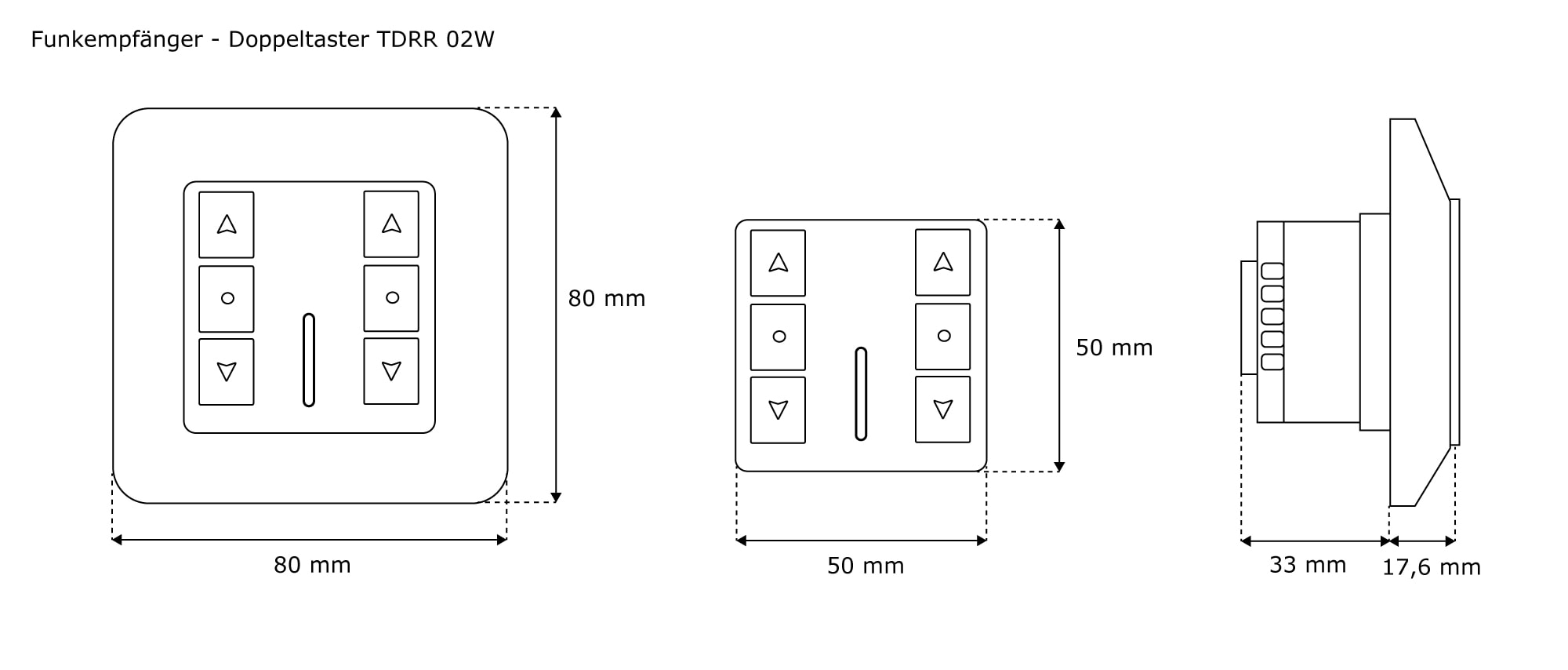 jarolift funkempf nger mit tastfunktion doppeltaster. Black Bedroom Furniture Sets. Home Design Ideas