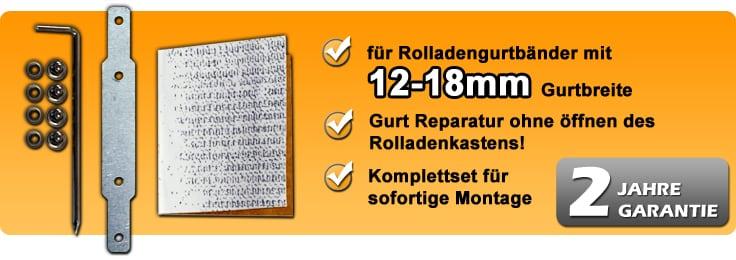 jarolift rolladengurt reparaturkit f 14mm gurt 10180182. Black Bedroom Furniture Sets. Home Design Ideas