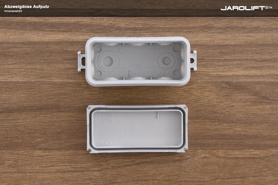 jarolift abzweigdose 88x42x37mm in grau. Black Bedroom Furniture Sets. Home Design Ideas