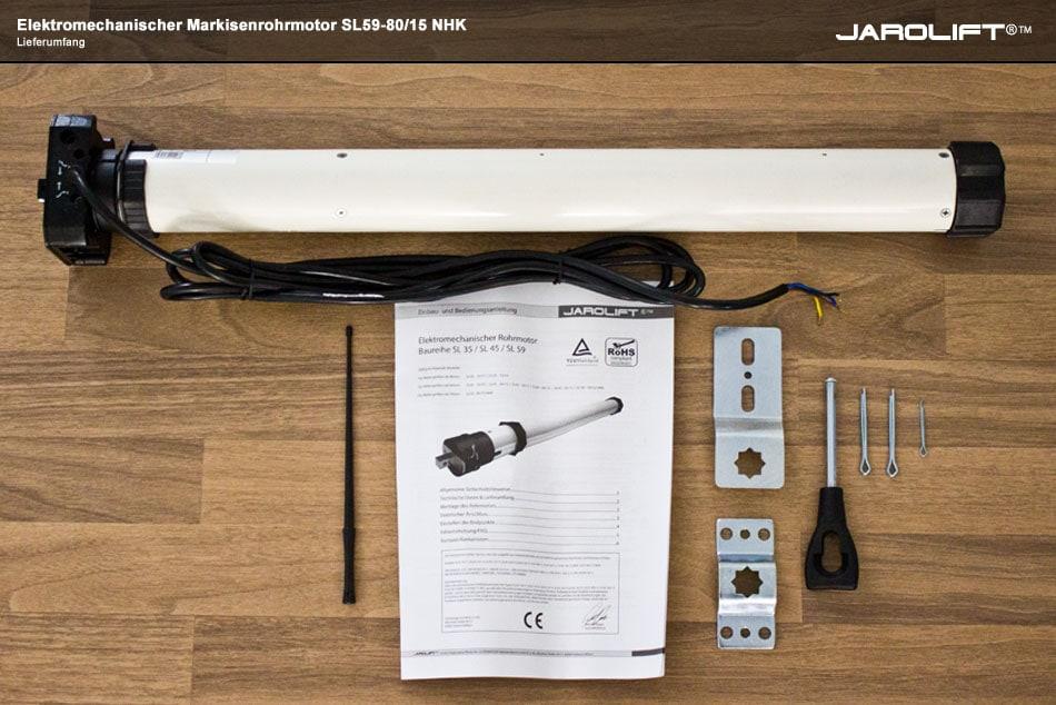 jarolift markisenmotor typ sl f r gelenkarmmarkisen kassettenmarkisen und wintergartenmarkisen. Black Bedroom Furniture Sets. Home Design Ideas
