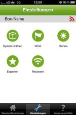 JAROLIFT®™ iWiSo iPhone App - Einstellungen