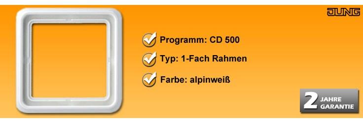 Rahmenprogramm Jung CD 500 1-Fach Rahmen (CD 581 WW)