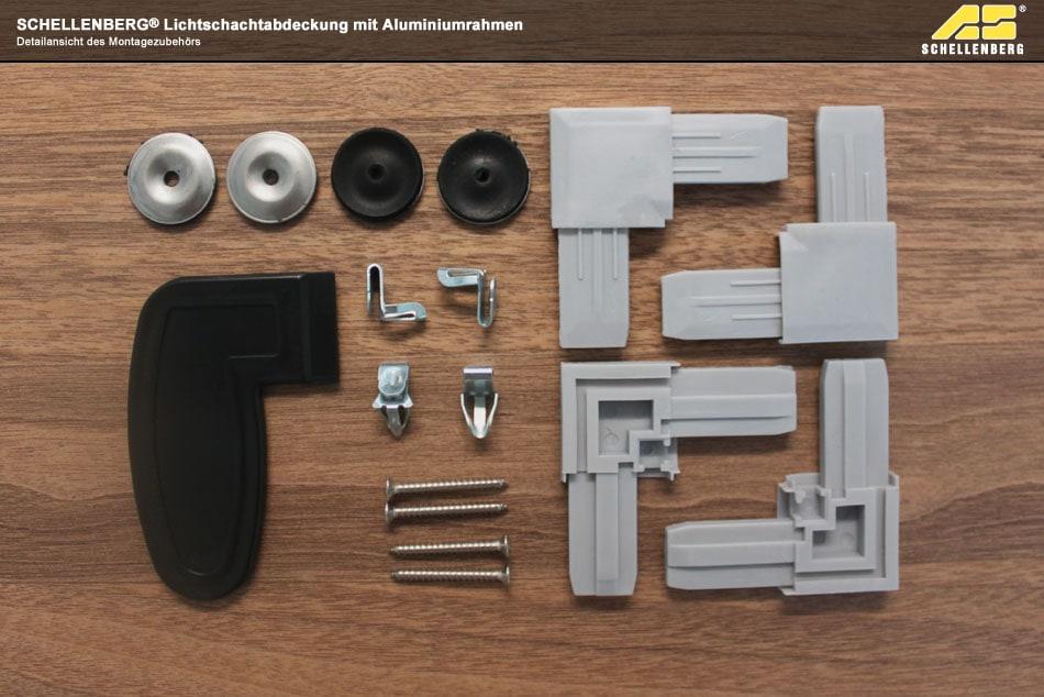 schellenberg lichtschachtabdeckung mit aluminiumrahmen. Black Bedroom Furniture Sets. Home Design Ideas