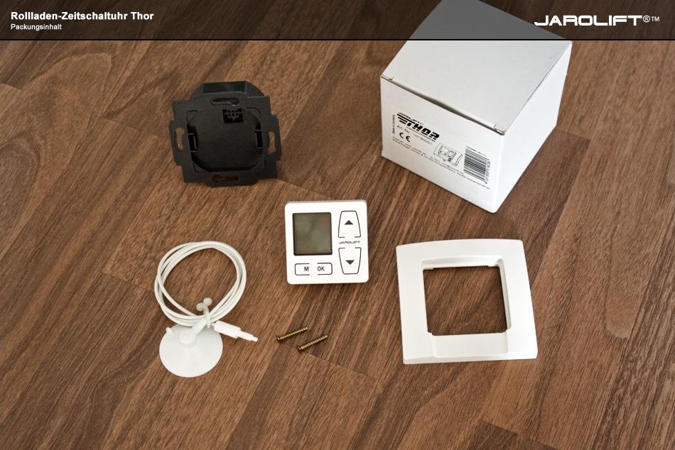 jarolift rolladen thor zeitschaltuhr 1 50m sensor ebay. Black Bedroom Furniture Sets. Home Design Ideas