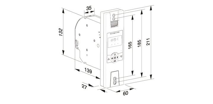 rademacher rollotron standard duofern elektrischer gurtwickler weiss 14234511. Black Bedroom Furniture Sets. Home Design Ideas