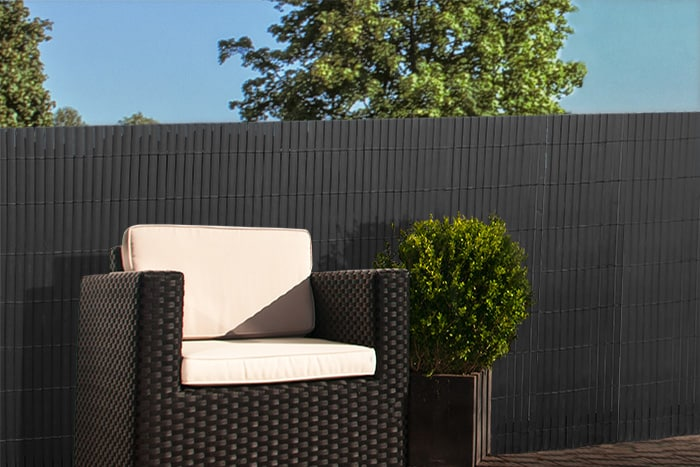 pvc sichtschutz terrasse balkon balkonverkleidung sichtschutzzaun matte zaun ebay. Black Bedroom Furniture Sets. Home Design Ideas