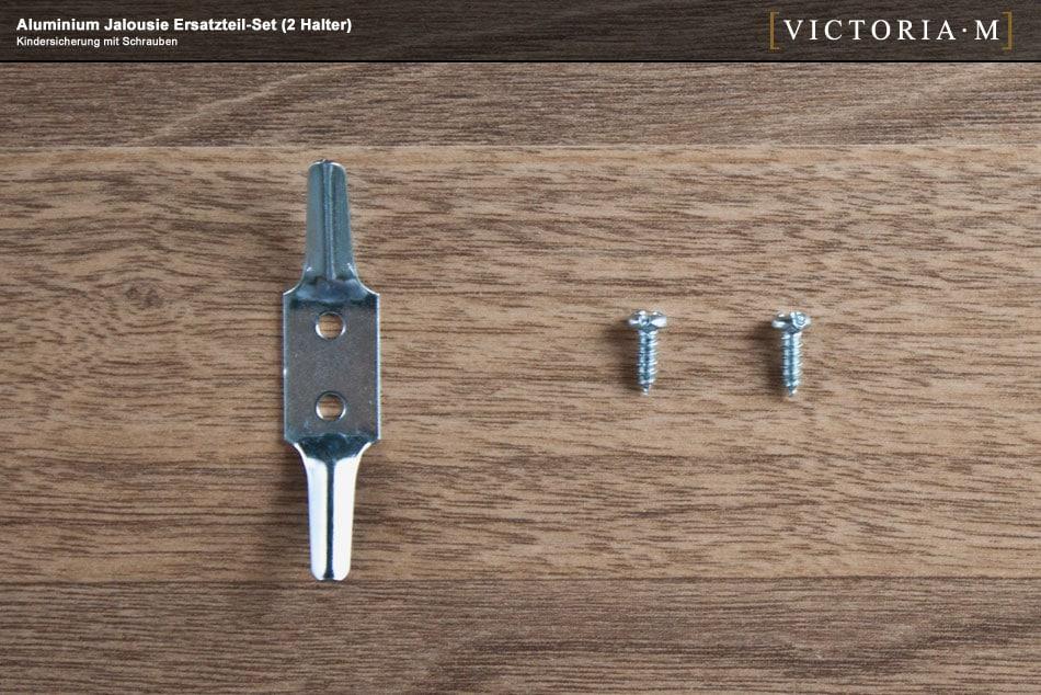 victoria m aluminium jalousie ersatzteil set 1 2 universalhalter inkl kindersicherung. Black Bedroom Furniture Sets. Home Design Ideas