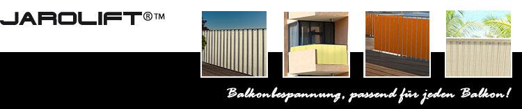 JAROLIFT Balkonbespannungen - Balkontuch passend für jeden Balkon!
