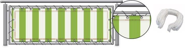 Balkonbespannungen Balkonbespannung Balkontuch Sichtschutz